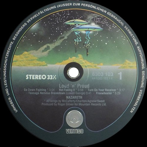 Nazareth - loud n proud - 1973 - nm/nm