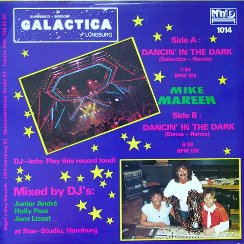 Dancing in the dark (galactica remix) release