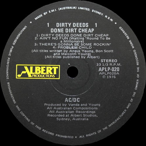 Dirty deeds done dirt cheap lyrics deutsch